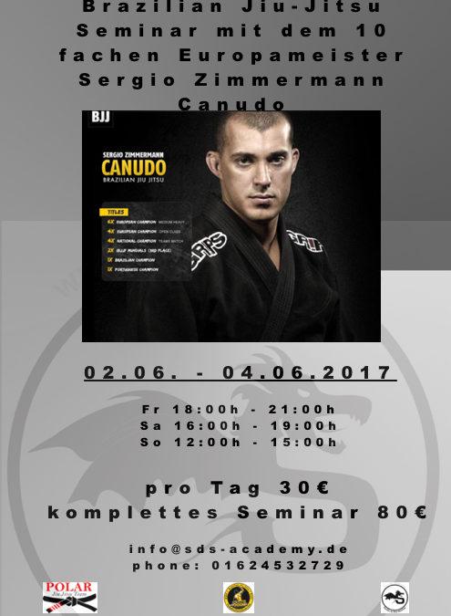 Brazilian Jiu-Jitsu Seminar mit dem zehnfachen Europameister Sergio Zimmermann Canudo