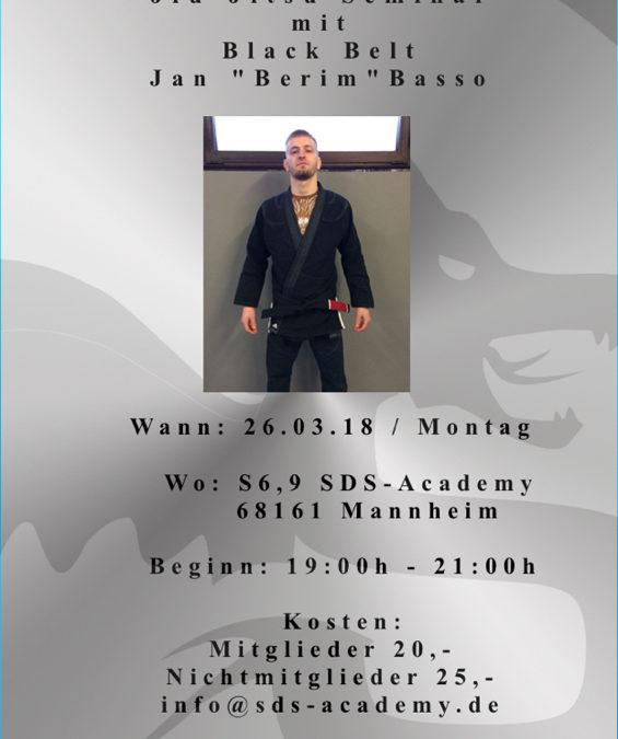 Brazilian Jiu Jitsu Seminar mit Black Belt Jan Basso