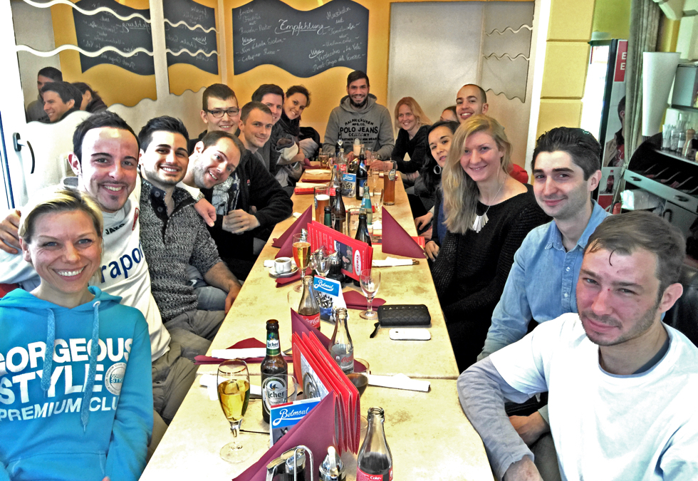 Weihnachtsfeier SDS-Academy Frankfurt in der Pizzeria Cimino Rossa Gallo