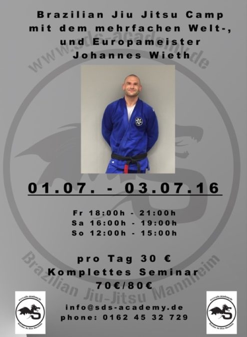 Brazilian Jiu-Jitsu Camp mit Black Belt  Johannes Wieth