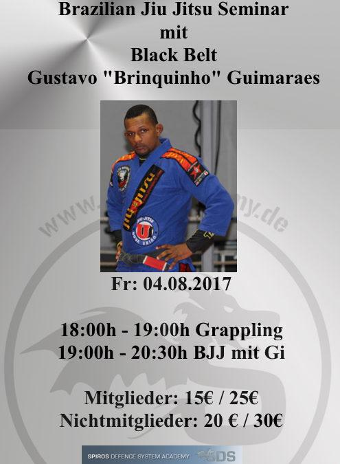 "Brazilian Jiu Jitsu ( BJJ ) Seminar mit Black Belt und MMA Fighter Gustavo ""Brinquinho"" Guimaraes"