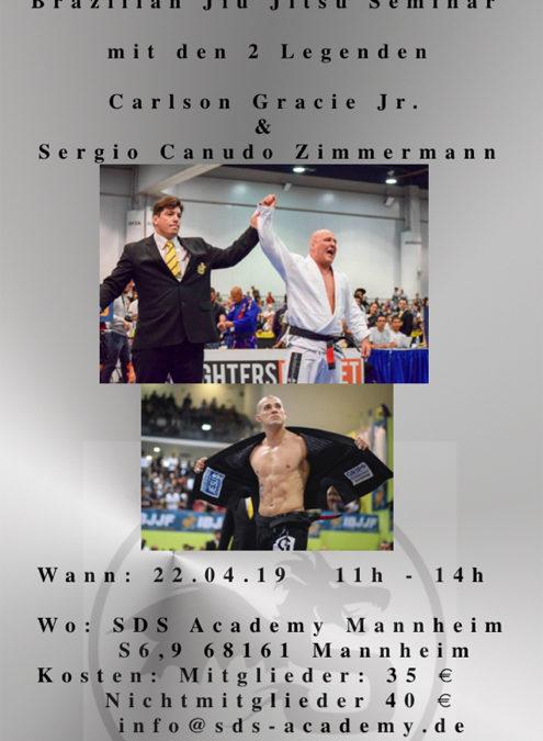 """BJJ Seminar mit Carlson Gracie Jr. und Sergio """"Canudo"""" Zimmermann"""