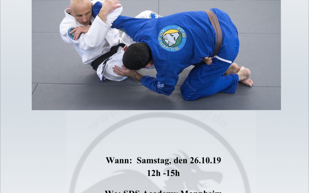 "BJJ Seminar mit Renzo Gracie 3rd Dan Black Belt Karel "" Silver Fox "" Brave"